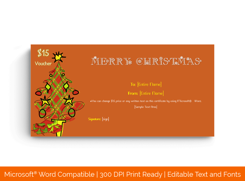 Christmas Gift Certificate Template Burgundy 18794