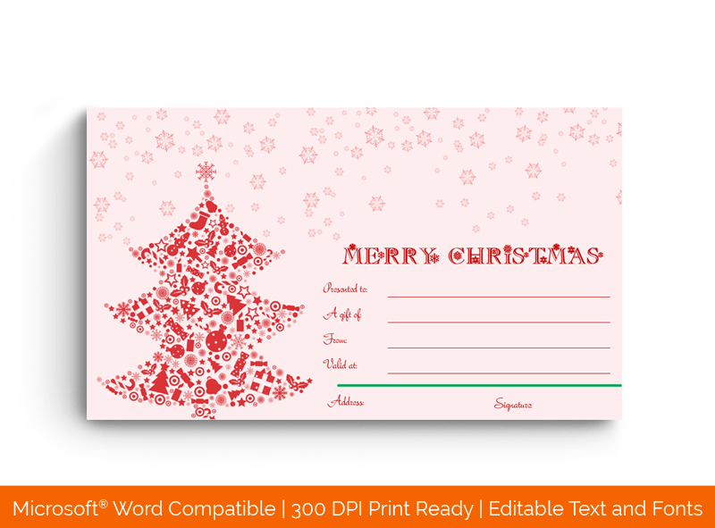 Christmas Gift Certificate Template Elegant 18872