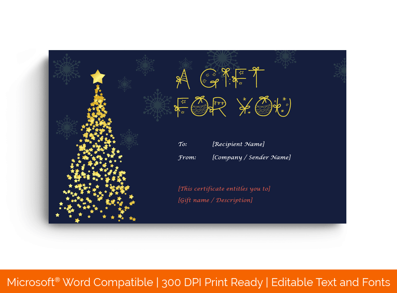 Christmas Gift Certificate Template Word 1880
