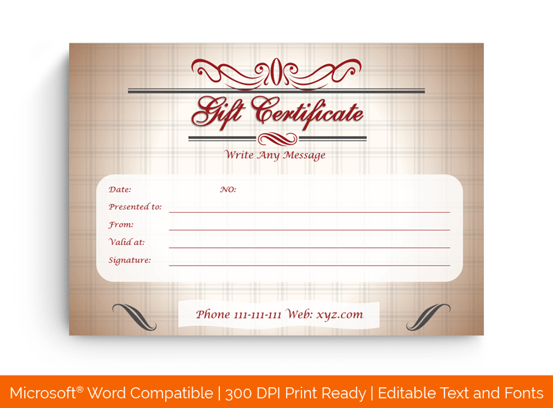 Christmas Money Gift Certificate Template 5997