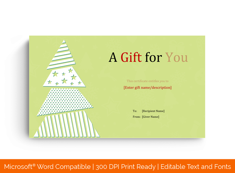 Christmas Tree Gift Certificate Template in MS Word 34