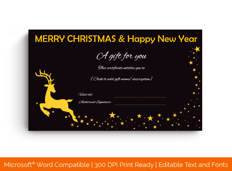 Christmas and New Year Gift Certificate Template 99