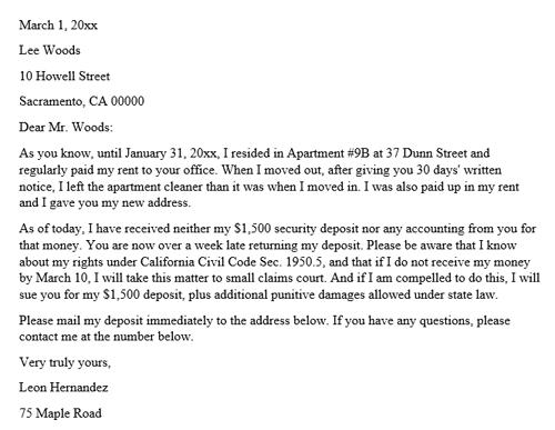 Demand Letter Security Deposit from images.docformats.com