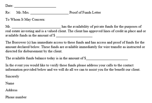 Bank Letter Proof Of Funds from images.docformats.com