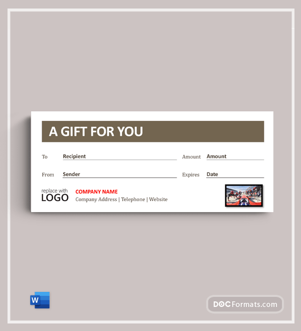 Auto Detailing Gift Certificate Template