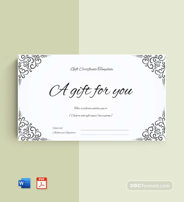 Business Gift Certificate Template (Word & PDF)
