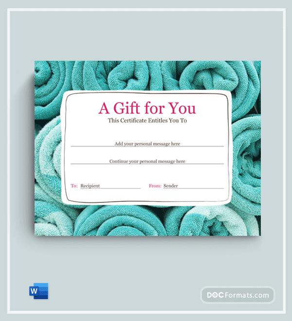 Free Beauty Salon Gift Certificate Template