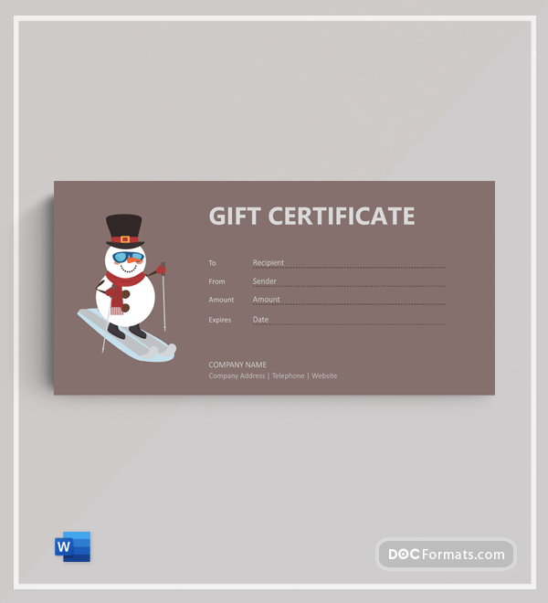 Free Christmas Gift Voucher Template