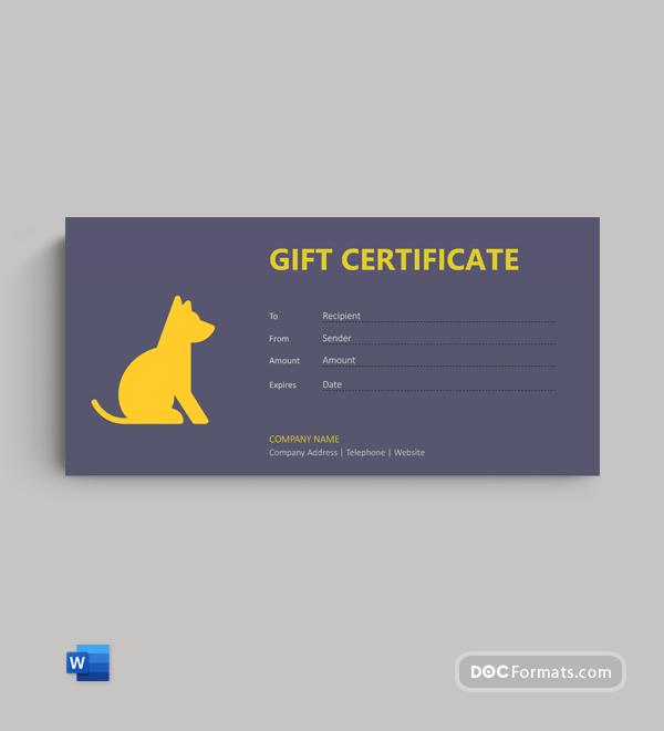 Free Dog Gift Voucher Template