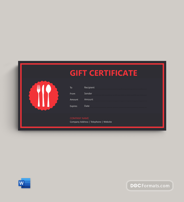 Free Lunch Gift Voucher Template