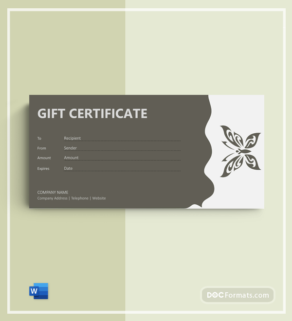 Free Tattoo Gift Certificate Template