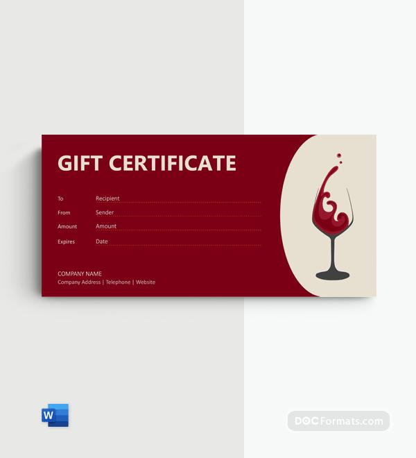 Free Wine Gift Voucher Template