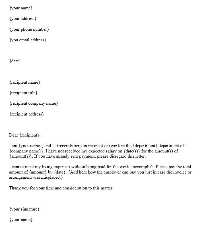 How To Write Salary Request Letter Format With Sample Letters Purshology