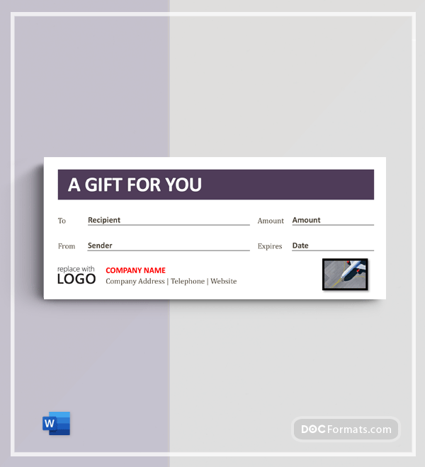 Travel Agency Gift certificate Template