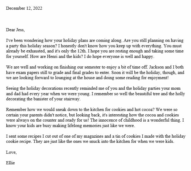 how to write a personal letter to a friend sample letter