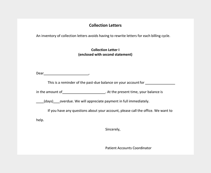 Collection Letter Templates #04
