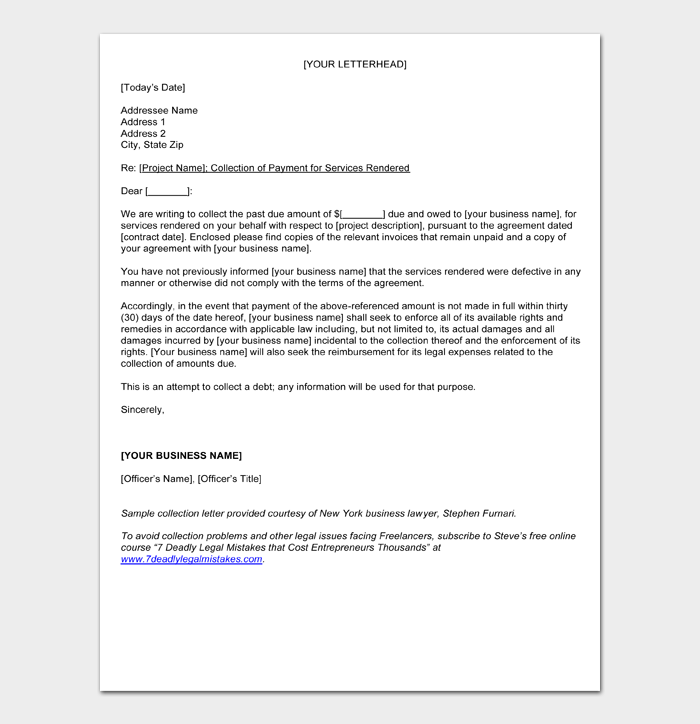 Debt Collection Letters #25