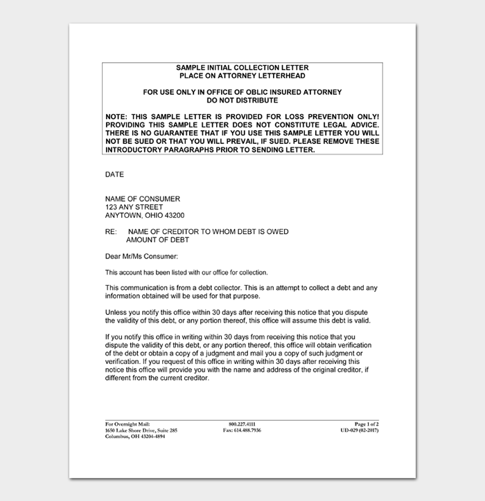 Debt Collection Letters #29