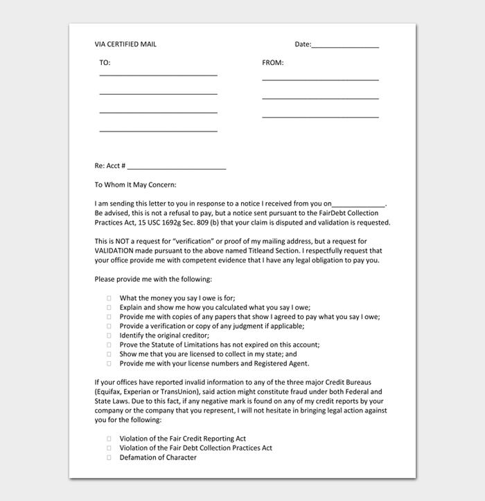 Debt validation letter #02