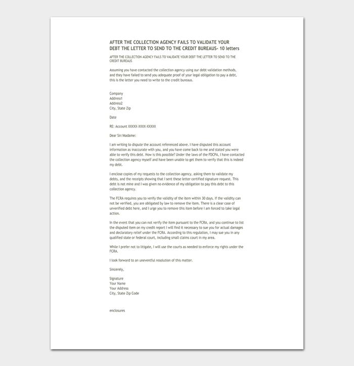 Debt validation letter #04