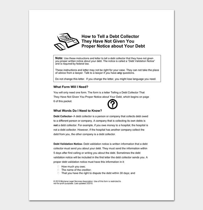 Debt validation letter #05