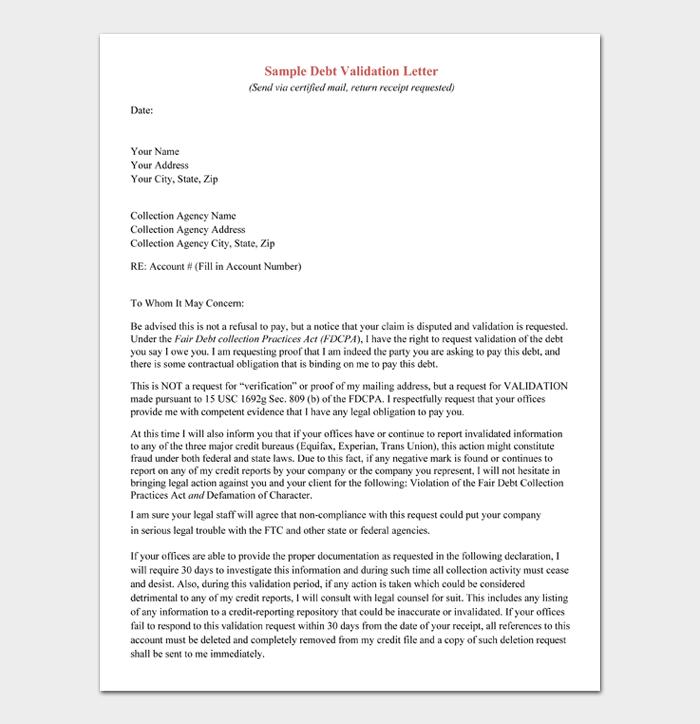 Debt validation letter #11