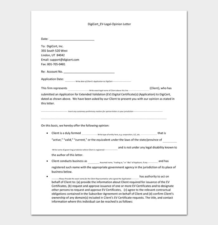 DigiCert_EV Legal Opinion Letter