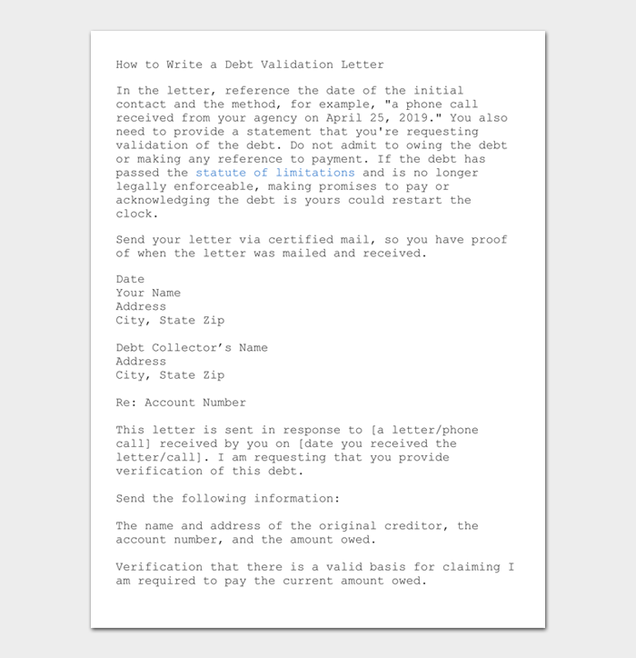 How to Write a Debt Validation Letter