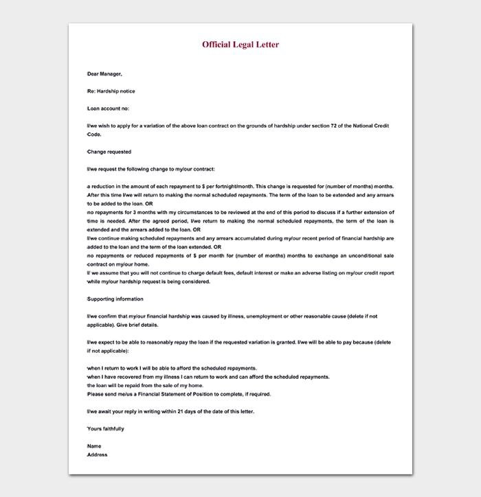 Official Legal Letter