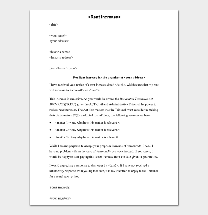 Rent Increase Letters #02