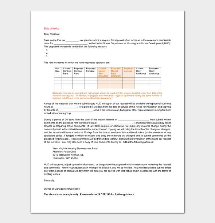 Rent Increase Notices #14