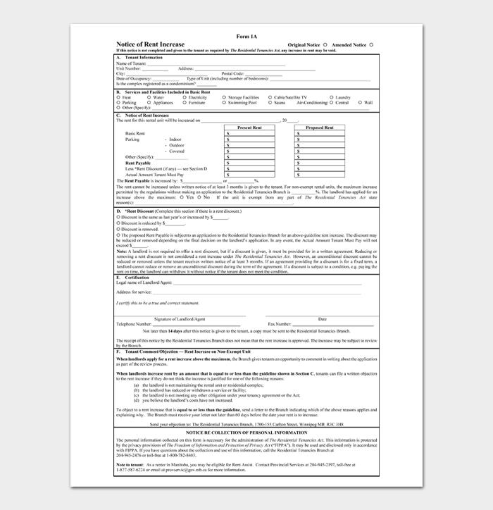 Rent Increase Notices #16