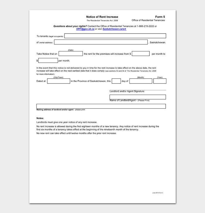 Rental Increase Forms #24