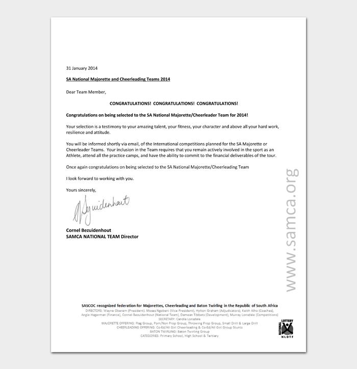 Congratulation Letters For Promotion #46
