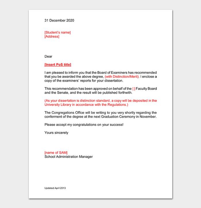 Congratulation Letters For Promotion #48
