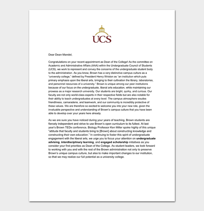 Graduation Congratulation Letters #20