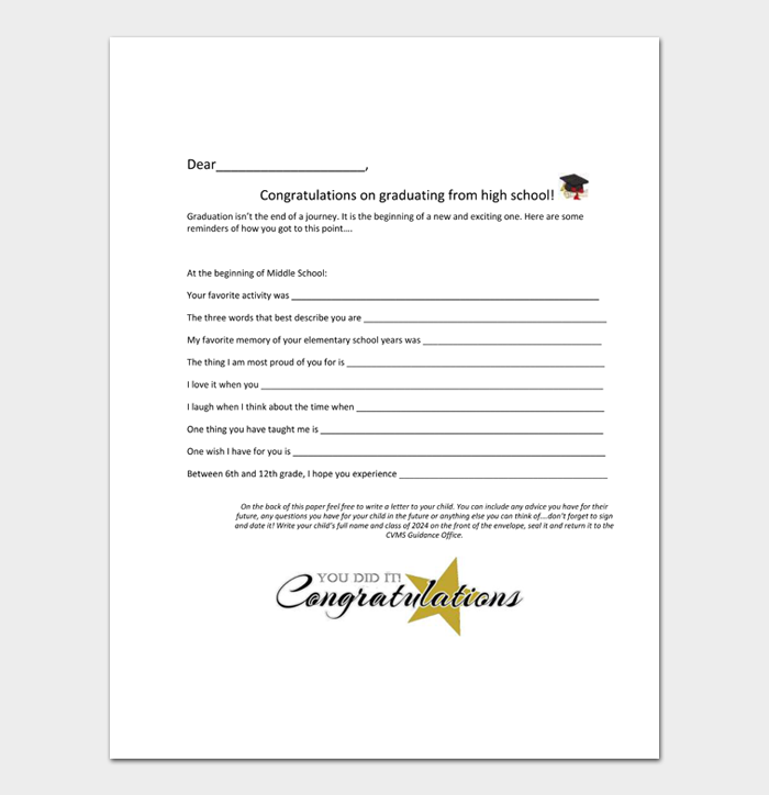 Graduation Congratulation Letters #34
