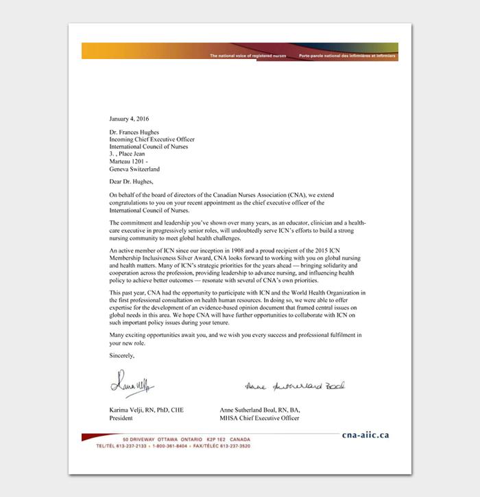 Retirement Congratulation Letters #14