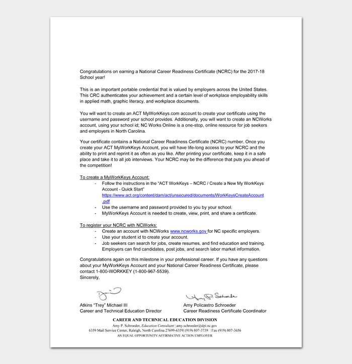 Retirement Congratulation Letters #19