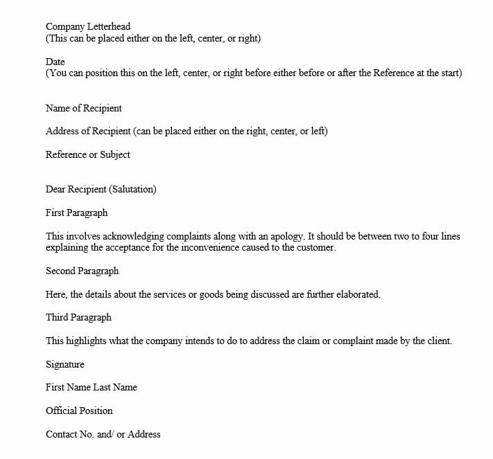 """Good News"" Adjustment Letter (Word Template)"