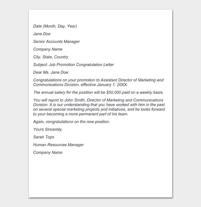 Job Promotion Letter #09