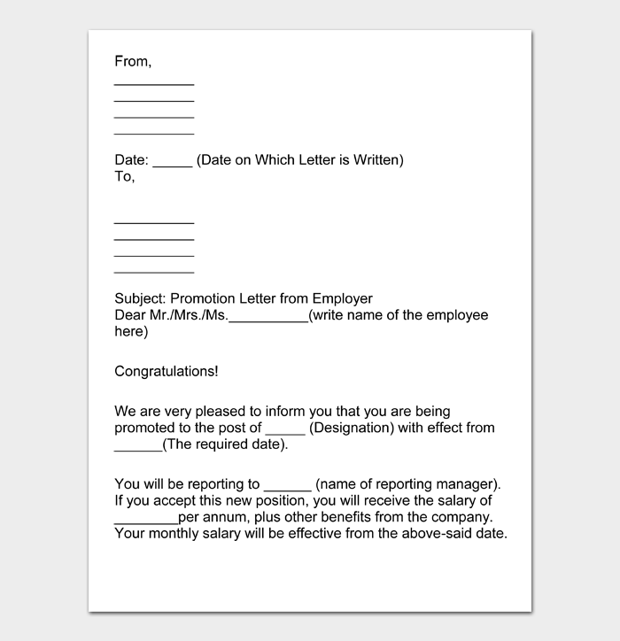 Job Promotion Letter #16
