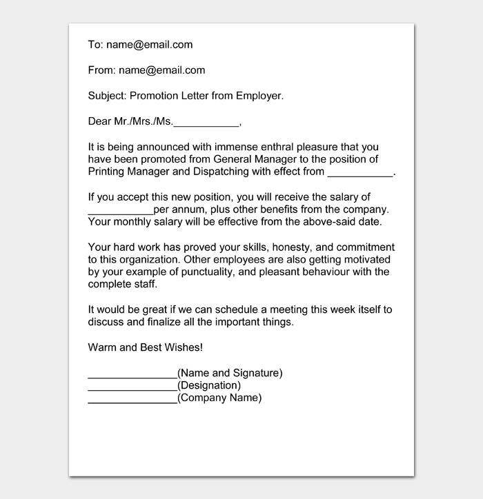 Job Promotion Letter #18