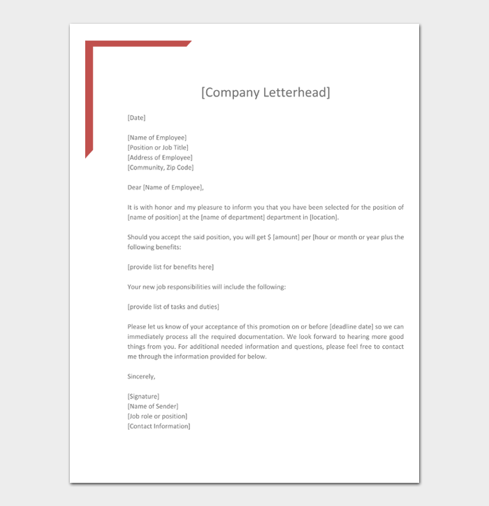 Job Promotion Letter #19