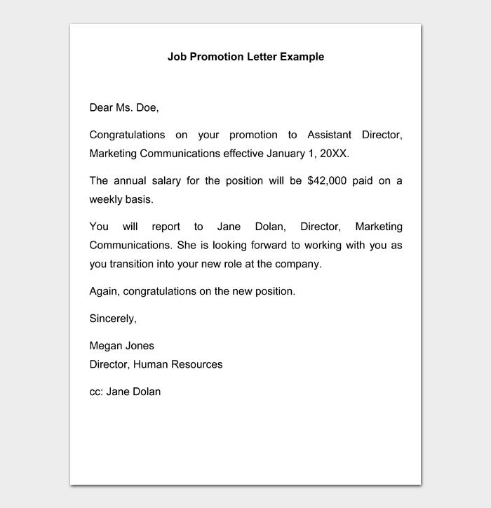 Job Promotion Letter #20