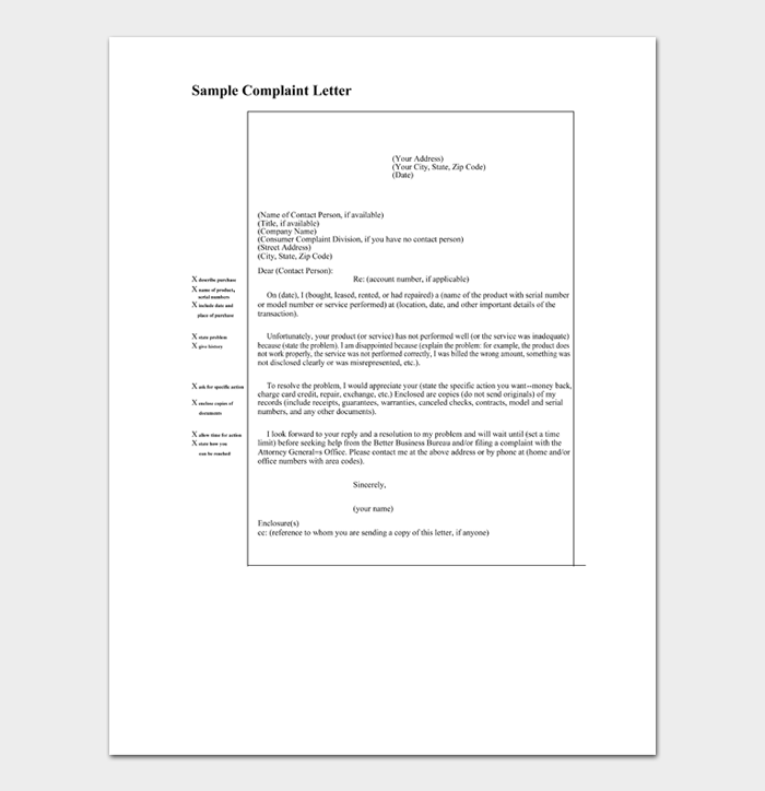 Contact letter example no Free Harassment