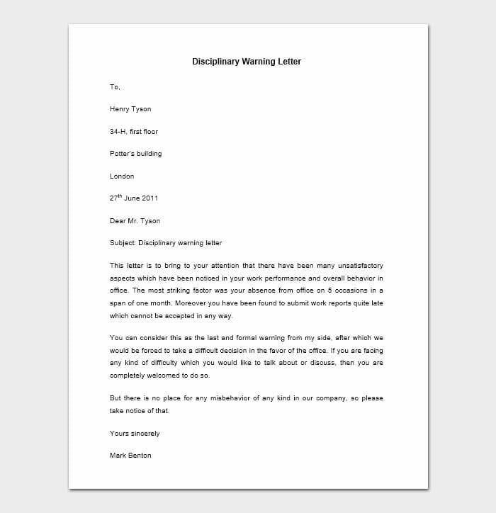Employee Warning Letter 6