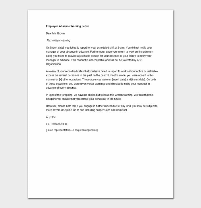Employee Warning Letter 7