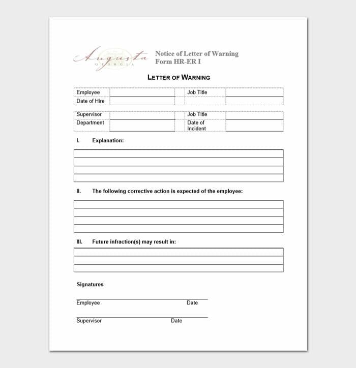 Employee Warning Form 5