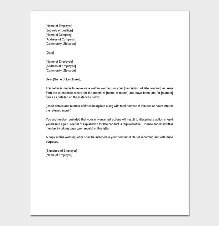 Employee Warning Form 7